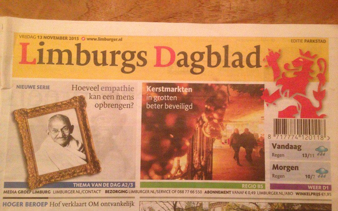 CrowdProfessionals met kerstgrotten van Valkenburg in het Limburgs Dagblad