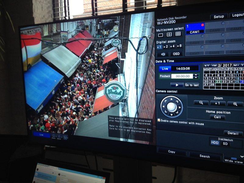 Camera's brengen massa in Bossche Korte Putstraat haarscherp in beeld
