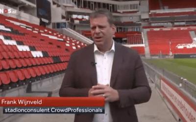 Hoe is het gesteld met de veiligheid van de Nederlandse voetbalstadions? Frank Wijnveld in het 8 uur journaal en Nieuwsuur