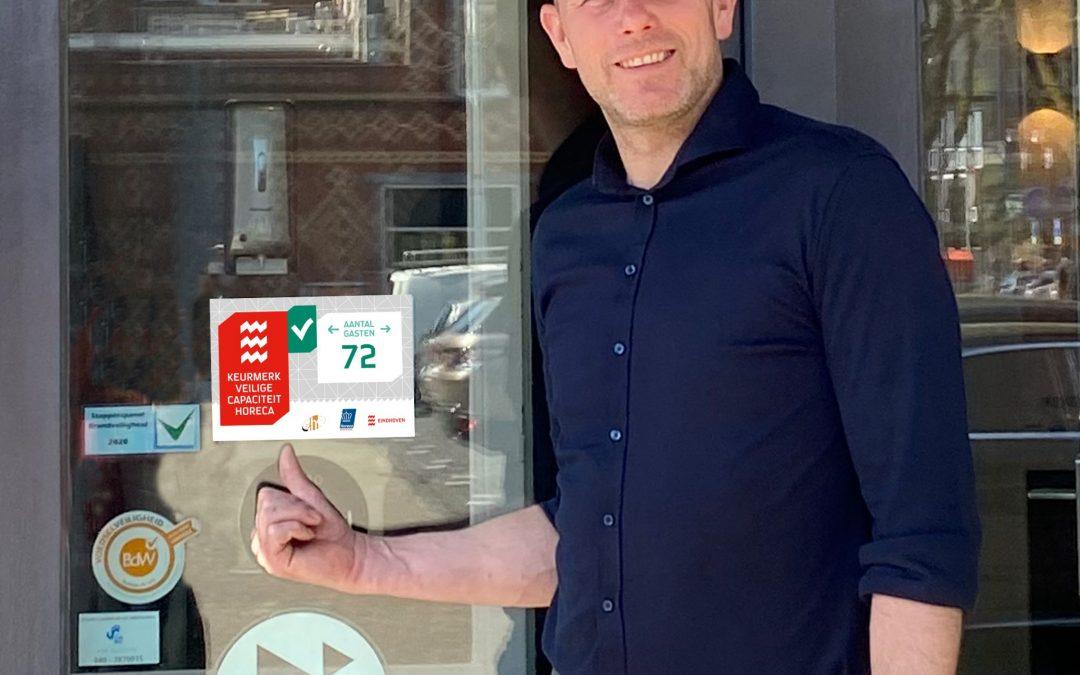 Eindhoven introduceert het 'Keurmerk Veilige Capaciteit Horeca'